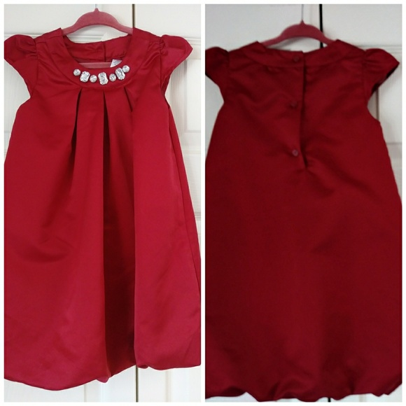Gymboree Other - Gymboree satin bubble dress fancy jewels size 3T